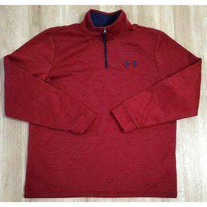 Under Armour Mens Fleece Lightweight Zip Red Large